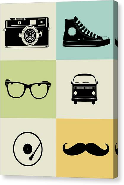 Humor Canvas Print - Hipster Mix Poster by Naxart Studio
