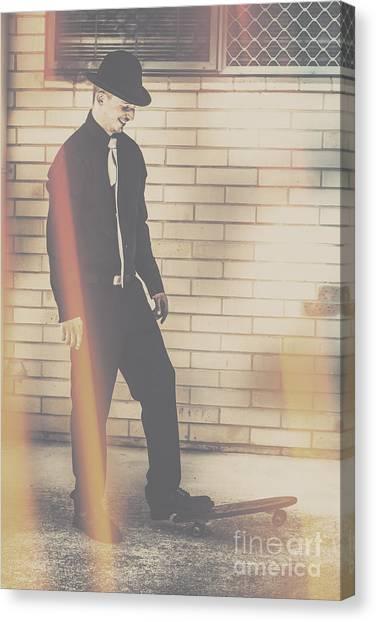 Skateboarding Canvas Print - Hipster Trickster by Jorgo Photography - Wall Art Gallery