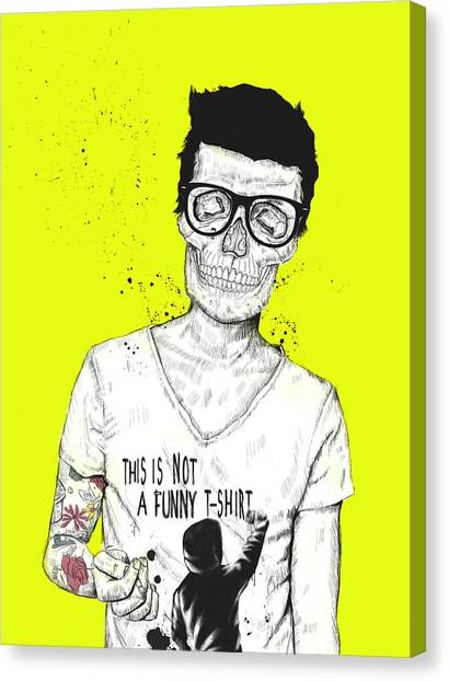 Skulls Canvas Print - Hipsters Not Dead by Balazs Solti