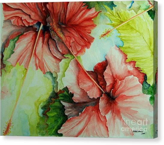 Hiroko's Hibiscus Canvas Print