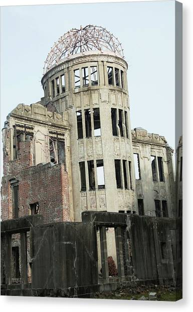 Peace Tower Canvas Print - Hiroshima Peace Memorial by Andy Crump/science Photo Library