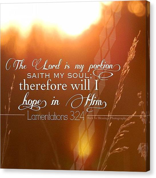 Mercy Canvas Print - His Mercies Are New Every Morning, And by Traci Beeson