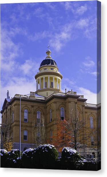 Historic Auburn Courthouse 7 Canvas Print