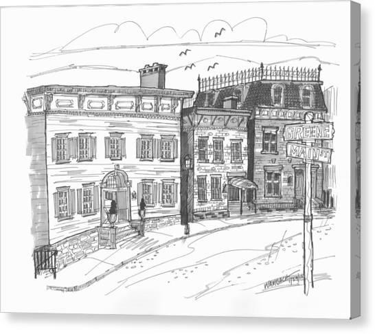 Historic Catskill Street Canvas Print