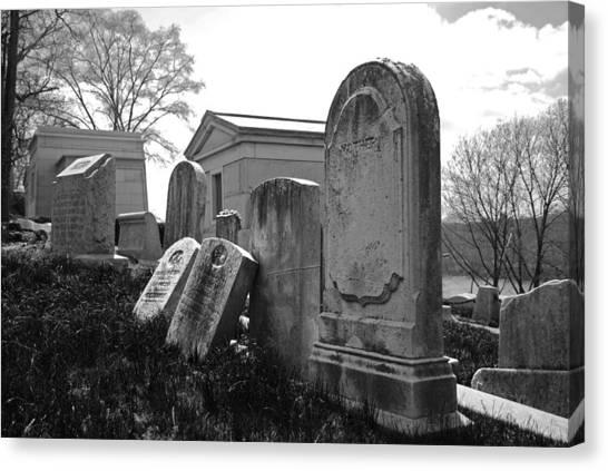 Dead Canvas Print - Historic Cemetery by Jennifer Ancker