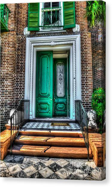 Historic Charleston Sc Door Canvas Print
