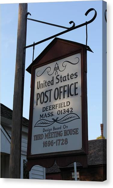 Historic Deerfield Post Office Canvas Print by DustyFootPhotography