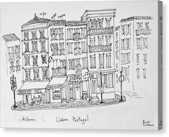 Scotty Canvas Print - Historic District Of Alfama, Lisbon by Richard Lawrence