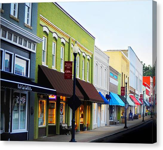 Historic Downtown Apex Canvas Print