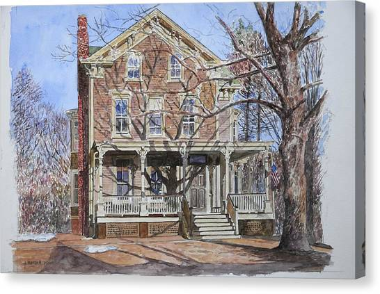 Old Houses Canvas Print - Historic Home Westifled New Jersey by Anthony Butera
