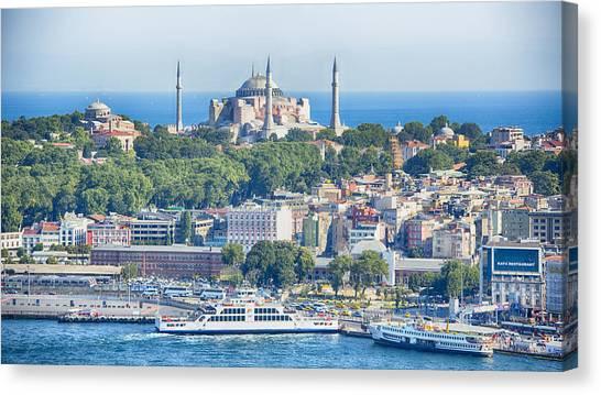 Byzantine Canvas Print - Historic Istanbul by Stephen Stookey