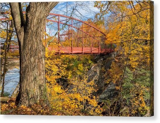 Autumn Landscape Canvas Print - Historic Lovers Leap Bridge by Bill Wakeley