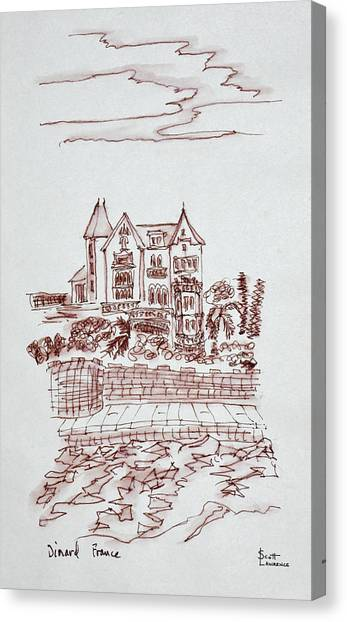 Scotty Canvas Print - Historic Mansion By The Atlantic Ocean by Richard Lawrence