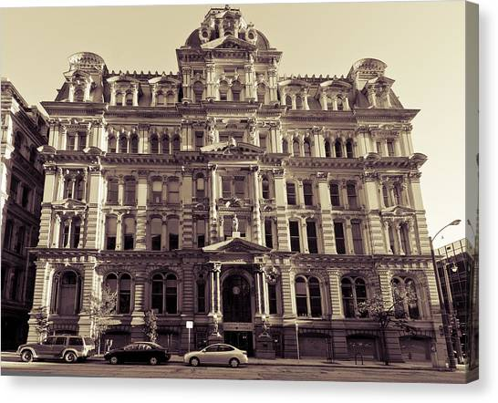 Historic Mitchell Building Canvas Print by Anthony Sell