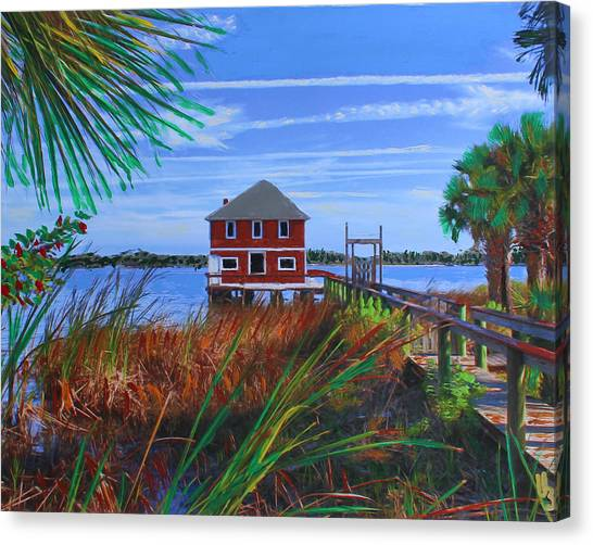 Historic Ormond Boathouse Canvas Print