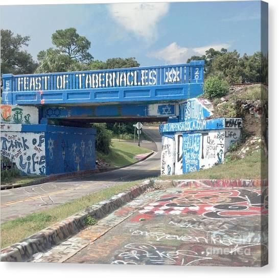Historic Pensacola Graffiti Bridge Canvas Print