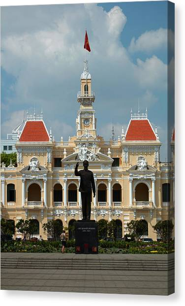 Vietnamese Canvas Print - Historic People's Committee Building by David Wall