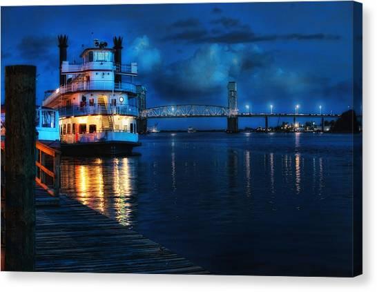 Historic Riverfront Canvas Print by Rafe Martin