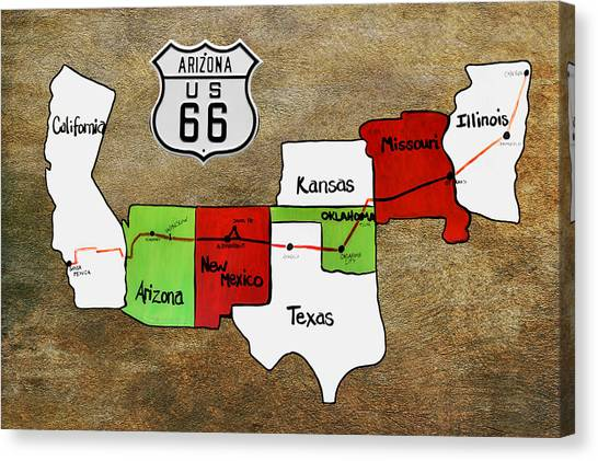 Kansas Canvas Print - Historic Route 66 - The Mother Road by Christine Till