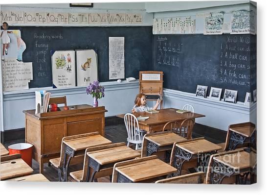 Historic School Classroom Art Prints Canvas Print