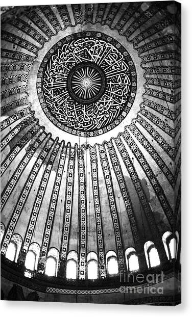 Byzantine Canvas Print - Historic Sophia Ceiling by John Rizzuto