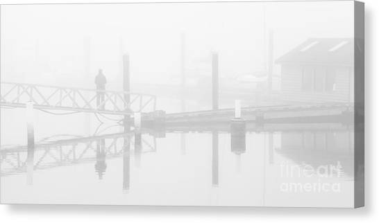 Historic Stewart Farm In The Fog Canvas Print
