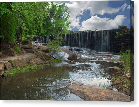 Historic Yates Mill Dam - Raleigh N C Canvas Print