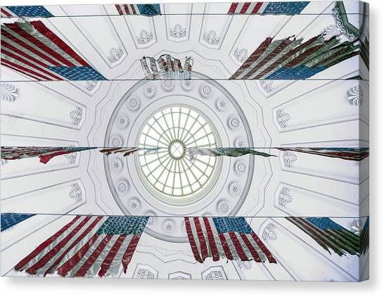 Stars And Stripes Canvas Print - History Suspended by Linda Wride