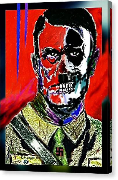 Hitler  - The  Face  Of  Evil Canvas Print