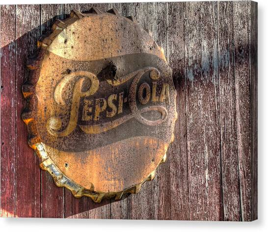 Pepsi Canvas Print - Hits The Spot by William Fields