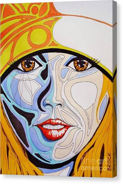 Hittin The Slopes Canvas Print by Kyle  Brock