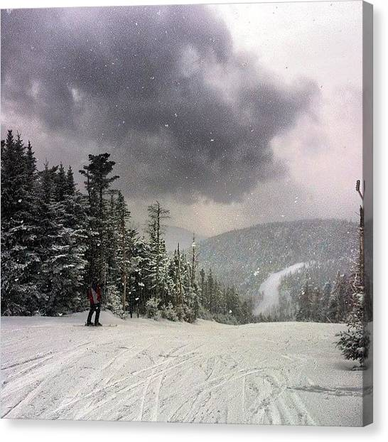 Snowboarding Canvas Print - Hitting The #trails At #gore #mountain by Dylan Ferris