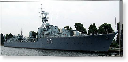 Hmcs Haida Twin Gun Tribal Class Destroyer  Canvas Print