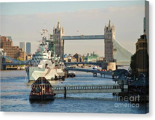 Hms Belfast London Canvas Print