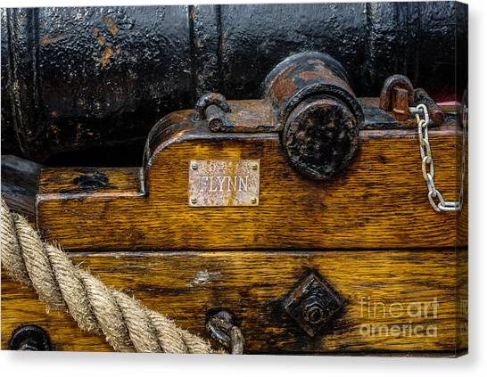 Hms Bounty Flynn Cannon Canvas Print