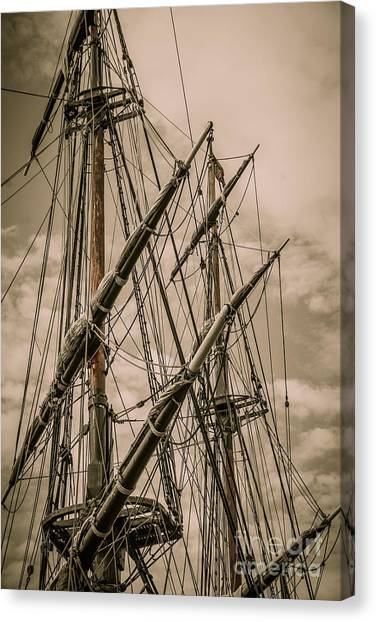Hms Bounty Mast Canvas Print