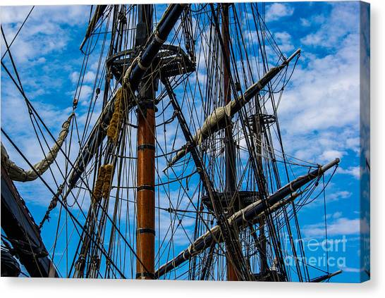 Hms Bounty Masts Canvas Print