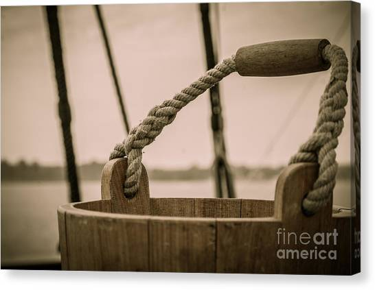 Hms Bounty Swab Bucket Canvas Print