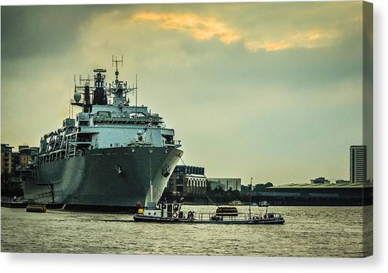 Royal Marines Canvas Print - Hms Bulwark by Dawn OConnor