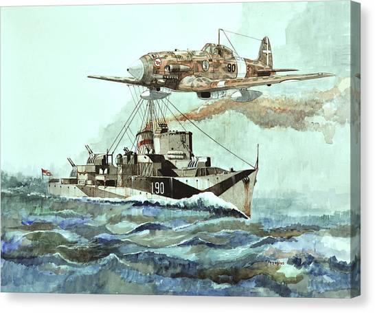 Hms Ledbury Canvas Print