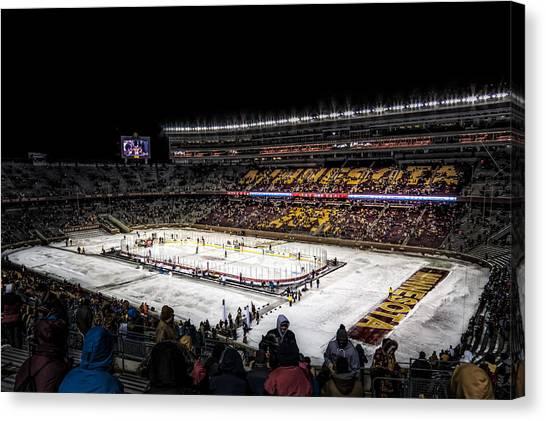 Minnesota Wild Canvas Print - Hockey City Classic by Tom Gort