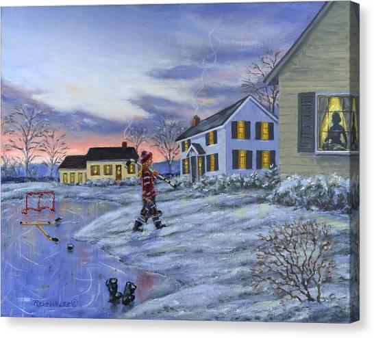 Hockey Girl Canvas Print