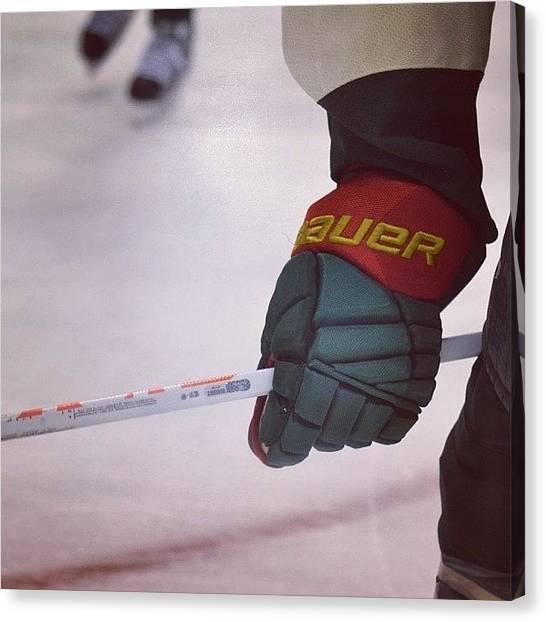 Gloves Canvas Print - Hockey. #mnwild by Betsy B