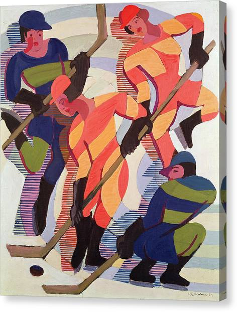 Hockey Players Canvas Print - Hockey Players by Ernst Ludwig Kirchner