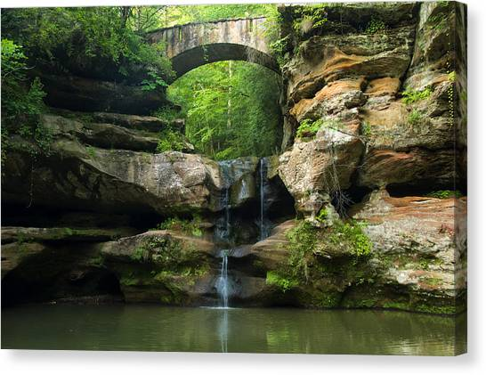 Hocking Hills Waterfall 1 Canvas Print