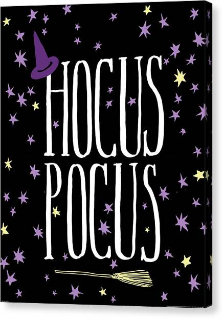 Halloween Canvas Print - Hocus Pocus by Wild Apple Portfolio