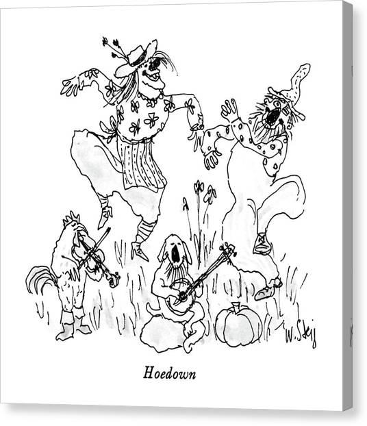 Bluegrass Canvas Print - Hoedown by William Steig