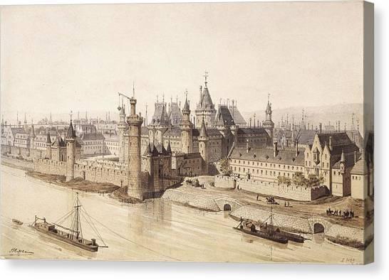 Le Louvre Canvas Print - Hoffbauer, Theodor Josef Hubert by Everett