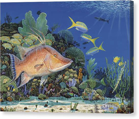 Spearfishing Canvas Print - Hog Heaven Re005 by Carey Chen