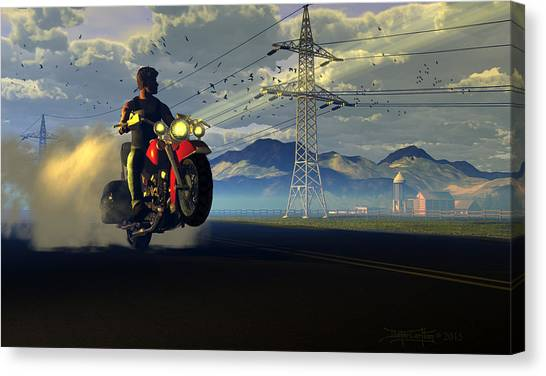 Hog Rider Canvas Print